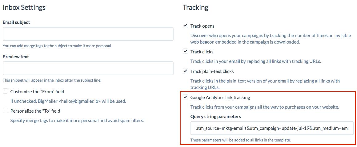 Google Analytcs utm parameters tracking