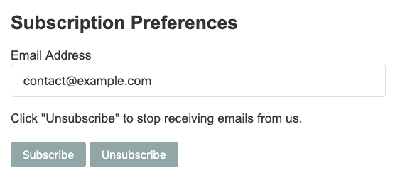 unsubscribe page example
