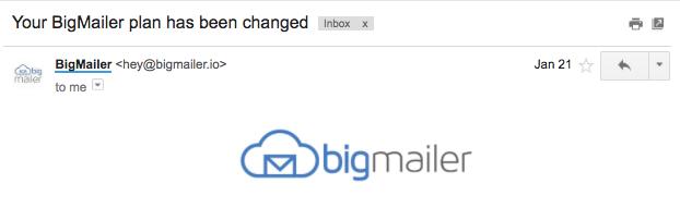 Email header with custom sender