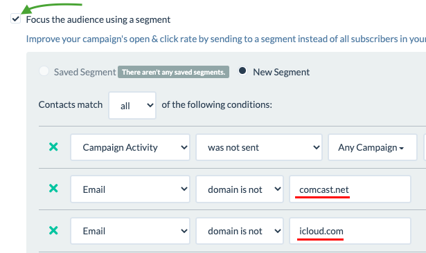 suppress high bounce or complain email domains