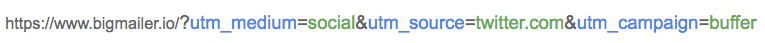Example: URL with utm parameters auto generated by Buffer