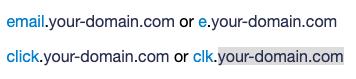 custom tracking domain examples