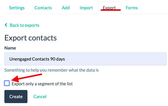 list export