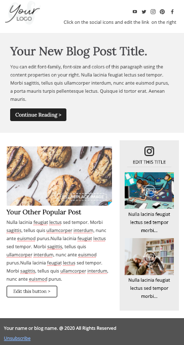 New Blog Post Email Template